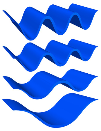 Abstract wavy shapes