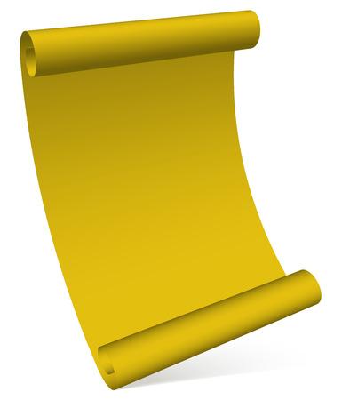 vellum: Pergamena, pergamena, grafica di scorrimento Vettoriali