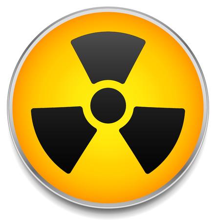 Radiation symbol on circle element
