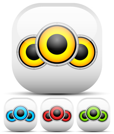 speaker icon: Multicolor speaker icon set