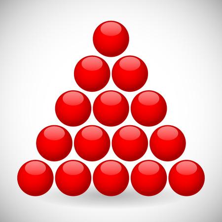 spherule: Red spheres in triangular formation