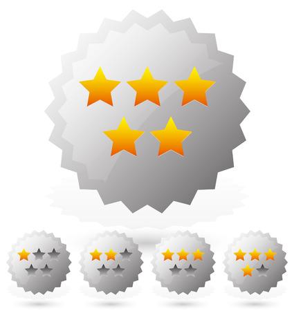 star rating: Distintivi per categoria
