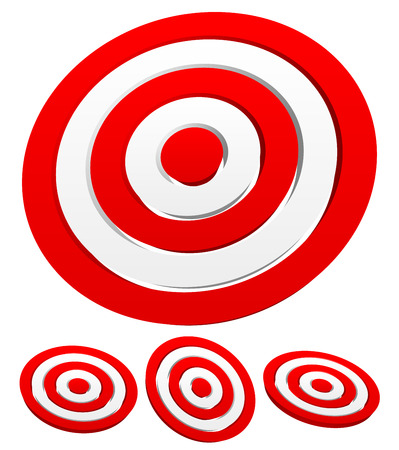 precisely: Set of 3d target graphics
