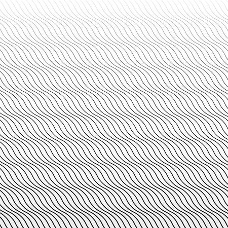 skew: Undulating, diagonal lines