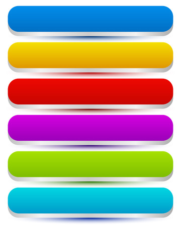 Colorful oblong buttons Vector