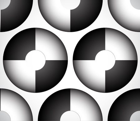 alternating: Abstract circles with alternating colors. (seamless rectangle) Illustration