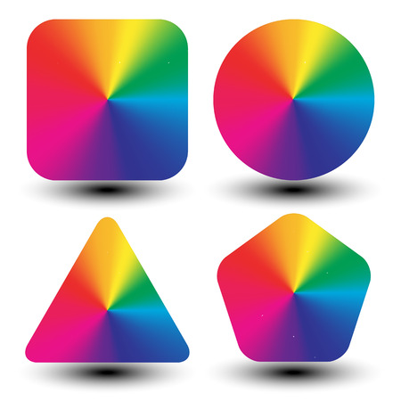 Circular color wheels mapped with different shapes