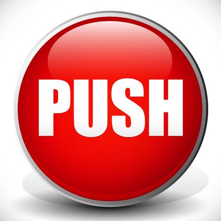 push button: Red push button Illustration