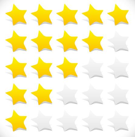 star rating: Stelle arrotondati stelle. 5 grafici stelle.