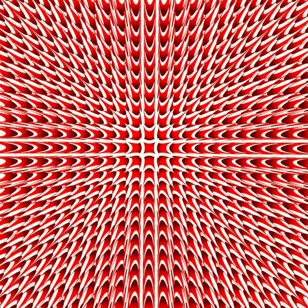 Spiky shapes spreading from center. Abstract vector.