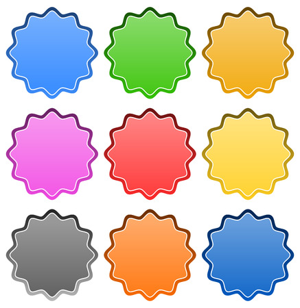 Starburst  badge shapes Vector