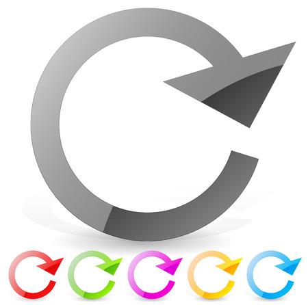 recurrence: Clockwise circular arrow