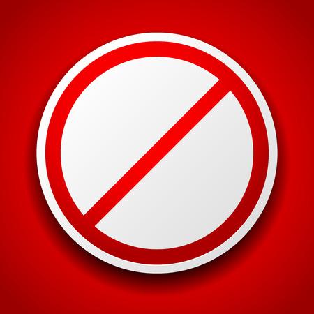no entrance: Ilustraci�n vectorial de una se�al de prohibici�n en rojo para ninguna entrada, sin entrada, una manera incorrecta o temas que proh�ben, conceptos