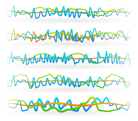 distort: Vector illustration of a set of abstract wavy lines