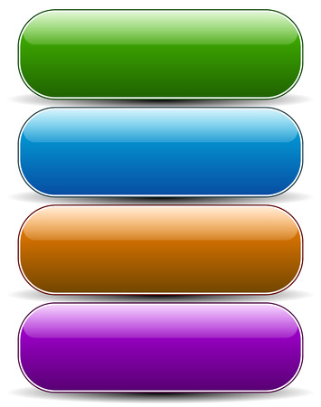 Glossy empty rounded button, banner backgrounds.
