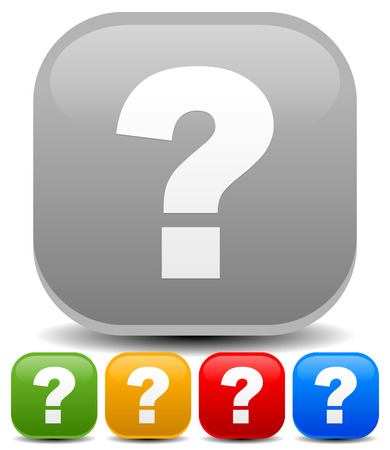 questionable: Vector illustration of question mark icons for riddle, puzzle, support concepts.