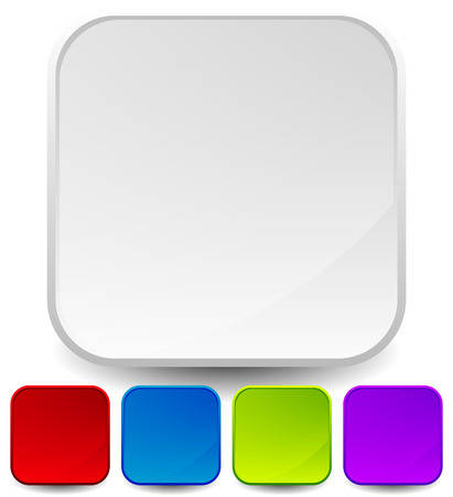 gloss: Vector illustration of empty icon backgrounds, rounded squares with gloss effect