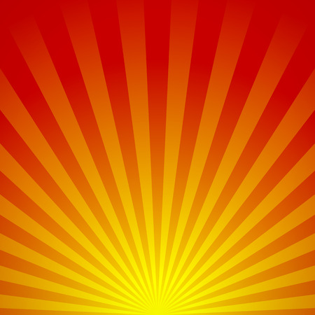 Vector illustration of an abstract sunrise. Know as beams, rays, radiating lines, starburst or sunburst background
