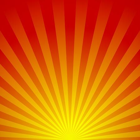 Vector ilustración de un amanecer abstracto. Sepa como vigas, rayas, líneas que irradian, starburst o fondo del resplandor solar