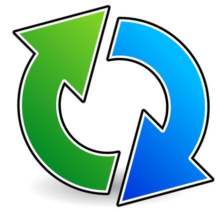 Illustrazioni vettoriali di circolari o Circle Frecce per rotazione, Exchange, Revisione, Twist, Spinning, Interchange o concetti simili. Archivio Fotografico - 36351042
