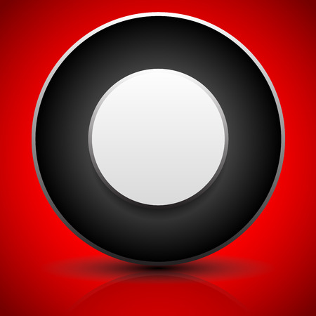 ten empty: Vector illustration of a Badge or generic circular element. Fine shadow and reflection, over bright red.