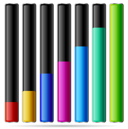 vertical bars: Vector illustration of Vertical bars, level process indicators.