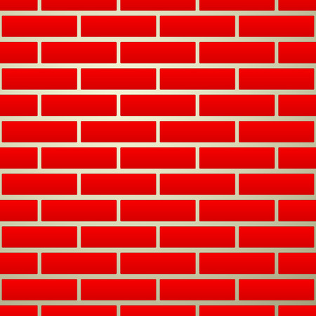 revetment: Vector illustration of seamless brick wall texture (repeatable)