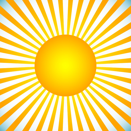 radiating: Vector illustration of an abstract sun with radiating lines Illustration