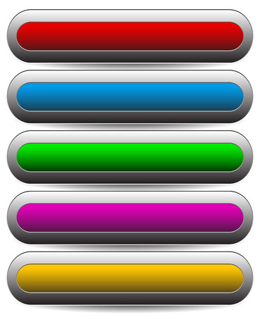 progressbar: vector illustration of Horizontal buttons, banners with empty space. Can be used as progress indicators or loading bars, pre-loaders. (Load saved selection, adjust it to a given level.)