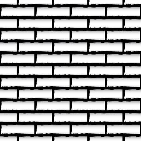 repeatable texture: Ilustraci�n del vector de la textura perfecta pared de ladrillo (repetible)