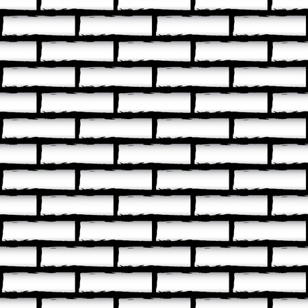 urban decay: Vector illustration of seamless brick wall texture (Repeatable)