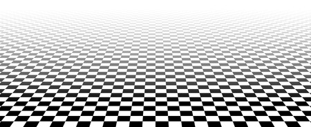 horizont: Vector illustration of a fading checkered plane in perspective Transparency made with opacity mask.