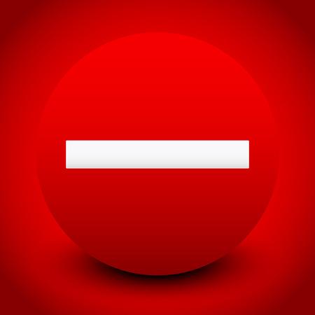 no entrance: Ilustraci�n vectorial de una se�al de prohibici�n o de iconos sobre fondo rojo, por la restricci�n, ninguna entrada, pero no los conceptos de ingreso o Reglamento gen�rico, Banning, Terminaci�n, Restricci�n, prohibir�n y conceptos Denegaci�n