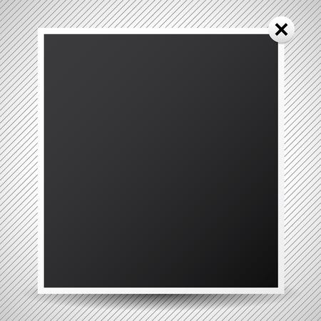 Vector illustration light box pop-up window. Web design element Illustration