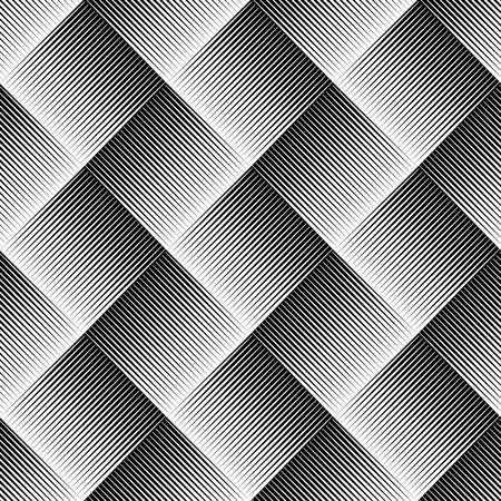 puntig: Vector illustratie van naadloze patroon gemaakt van puntige, scherpe vormen. Eps 10 vector. Stock Illustratie