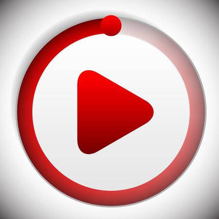 activate: Vector illustration of Soundtrack, music player control button. Play button with track indicator and knob Illustration