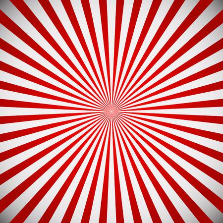 radiating: Illustrazione vettoriale di una starburst rosso, sfondo sunbrust. Linee che si irradiano dal centro Vettoriali