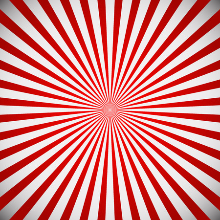 gray backgrund: Vector illustration of a red starburst, sunbrust background. Radiating lines from center Illustration