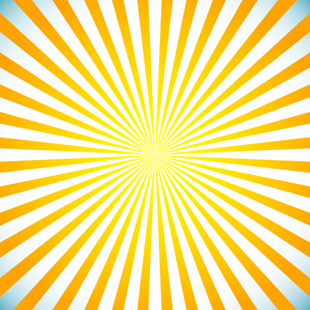 Vector illustration of a bright sunbrust, starburst background. Sun light spreading from center.