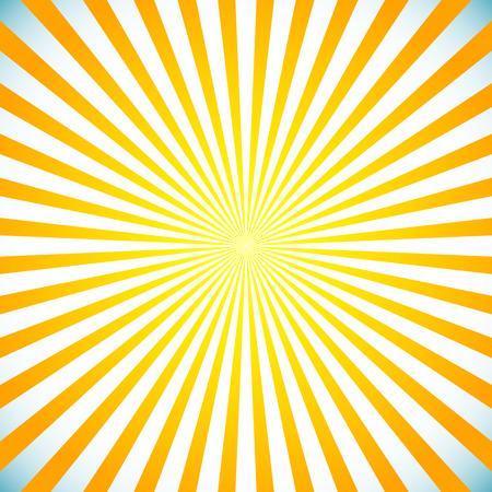 gray backgrund: Vector illustration of a bright sunbrust, starburst background. Sun light spreading from center.