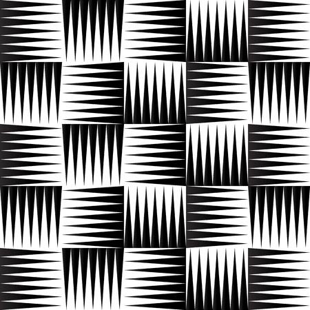 puntig: Vector illustratie van naadloze patroon gemaakt van puntige, scherpe vormen Stock Illustratie