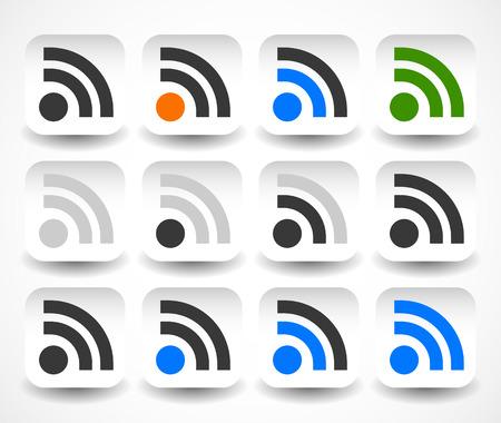 transmit: Vector illustration of a set of different signal strength indicators Illustration