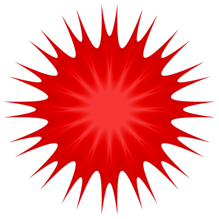 thorny: vector illustration of Spiky abstract shape in red Illustration