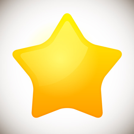 vector illustration of Bright Rounded modern Star icon  Star element.