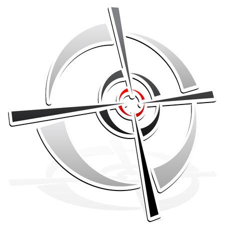 vector illustratie van de Cross-hair, dradenkruis, target-mark element