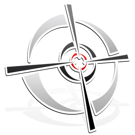 precisely: vector illustration of Cross-hair, reticle, target-mark element
