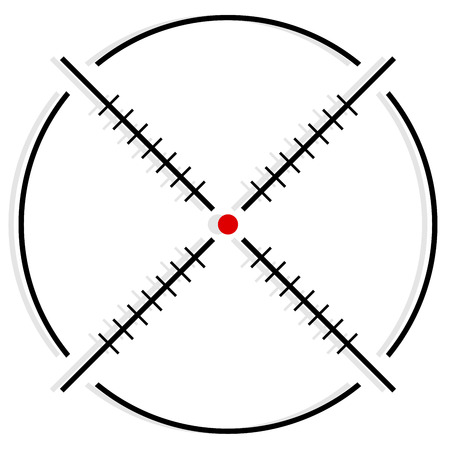 vector illustration of Cross-hair, reticle, target-mark symbol Illustration