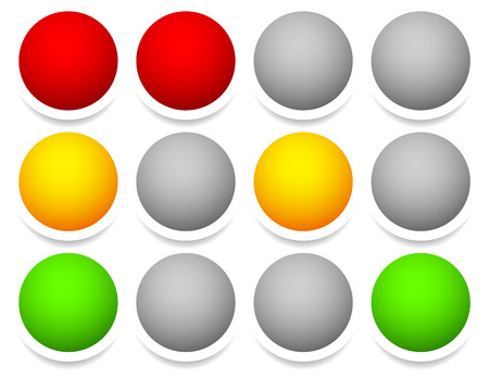 trafic stop: Eps 10 vector illustration of Control or Traffic lights