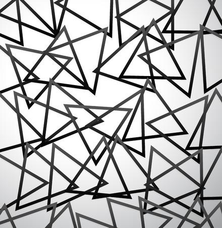 mishmash: Vector illustration of random triangles. Artistic vector background.
