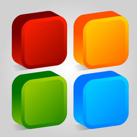 ten empty: 3d Colorful Design Elements Illustration